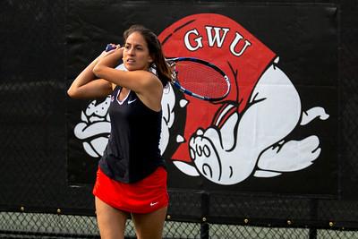 GWU Women's Tennis vs. Campbell March 2017