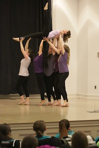 "The Heart of Fire Dance Team then gave their first performance of the night to Casting Crown's song, ""Broken Together."""