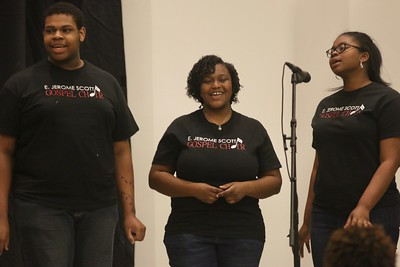 "Gospel Choir came up and performed ""We Sing Praises"" and ""Spirit Break Out,"" providing a time of worship for all in attendance."