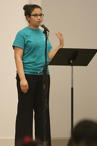 Marissa Richardson, Senior ASL Major, introduced all of the performances during the concert.