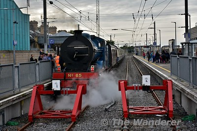 85 will follow the train back to Connolly light engine. Sun 28.05.17