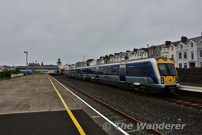3014 at Portrush with the 0810 to Portrush. Sat 27.05.17