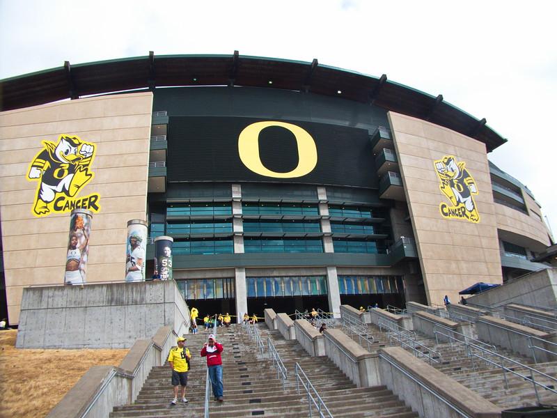 Nebraska-Oregon game, Autzen Stadium, Eugene, OR