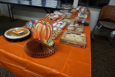 Lots of delicious dessert options were available to winners of the Turkey Trot, which was a Thanksgiving-themed cake walk.