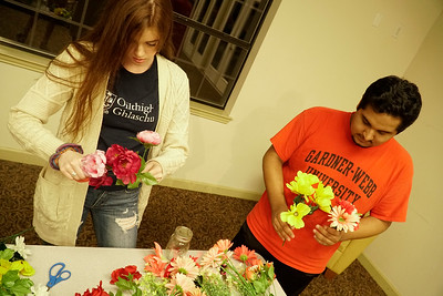 Breast Cancer Mason Jars, Aubrie Hemmer (left) and Zuridai Jamies (right)