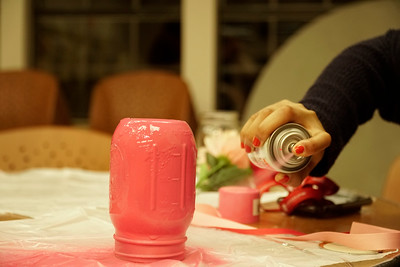 Breast Cancer Mason Jars