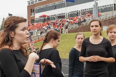 Lexi Keller giving directions to members of Joyful Hands