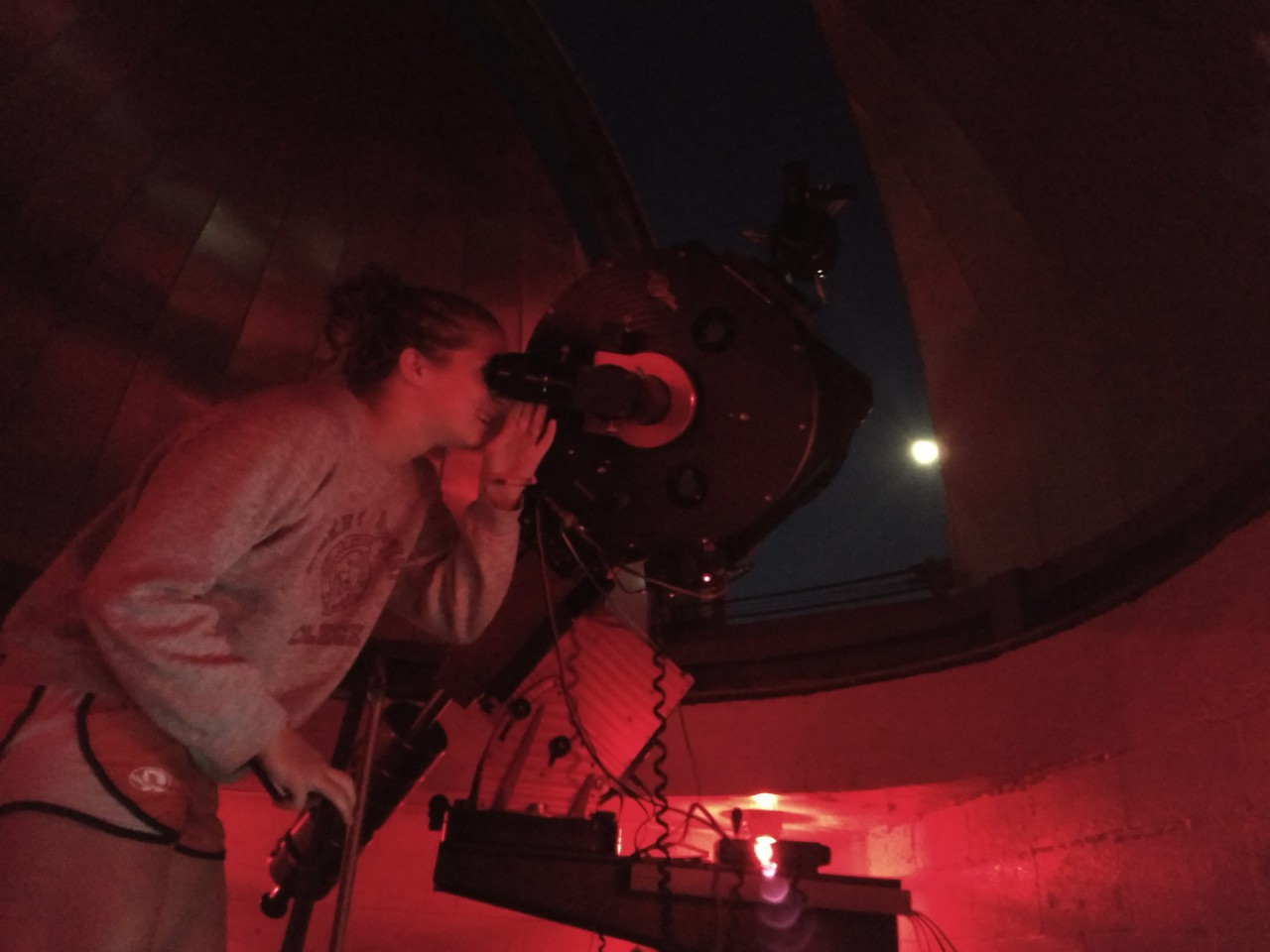 Observe the moon in the observatory Tuesday night located by the GWU soccer field
