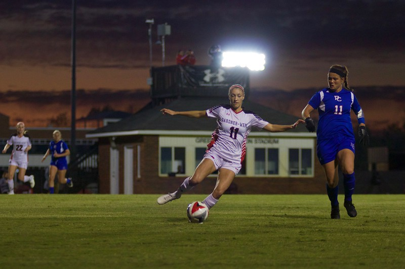 "On Wednesday, October 18th, GWU Women's Soccer defeated Presbyterian College 2-0 in their ""Think Pink"" Breast Cancer Awareness Game."