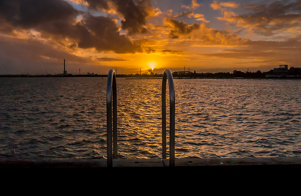 Sun Kissing Horizon