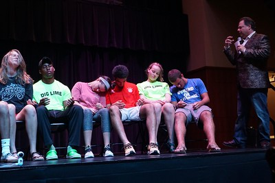 Students are showing the signs of being  hypnotized.