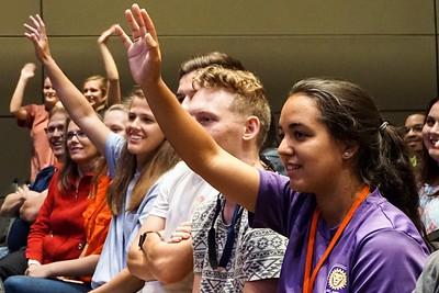 Students hope to be chosen as volunteers.
