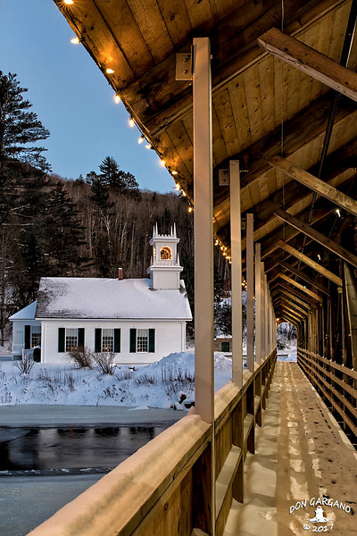 Stark Union Church and Stark Covered Bridge
