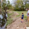 Fishing in the creek