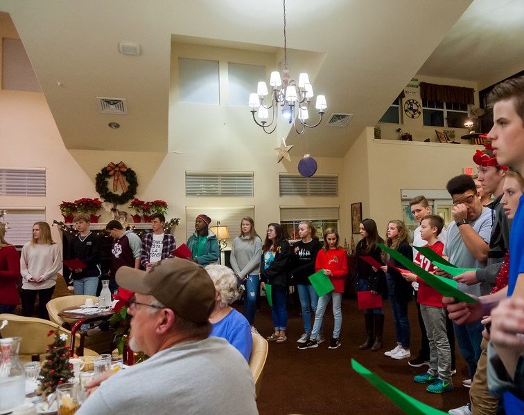 Caroling at Pioneer Ridge December 20, 2017 Photo Credit: Kennedy Pickering