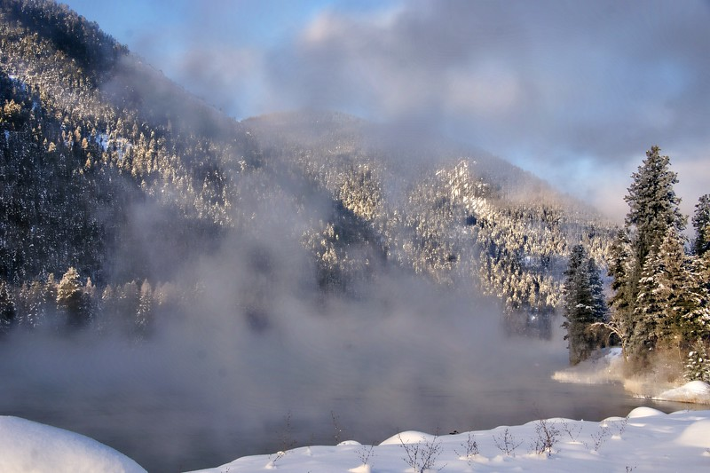 Frosty Mist on the River, Libby, MT