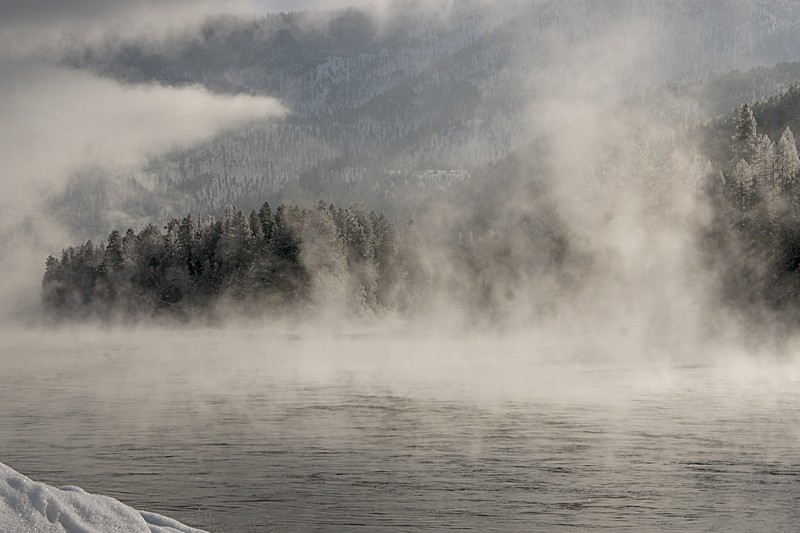 Cold is the Morning on the Kootenai River, Libby, MT