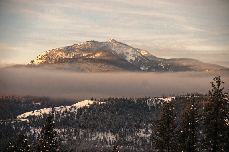 Early Morning Light on Indianhead Mountain, Libby, MT