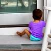 Rosie works the porch