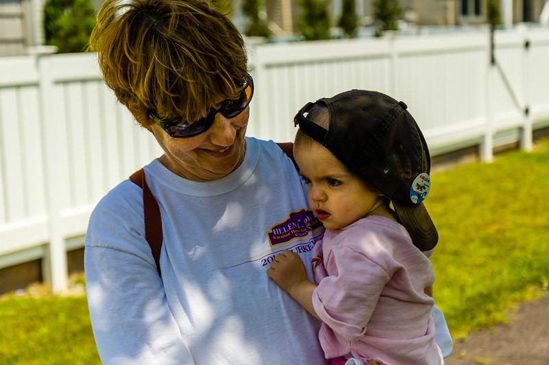 Rosie rocks Grandpop's cap