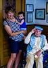 Rosie meets her great-granduncle, John Vuotto