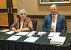 Marie Frasca and Al Gage at the registration desk