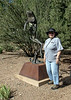 Jeanette Williams in the Yavapai College Sculpture Gardens