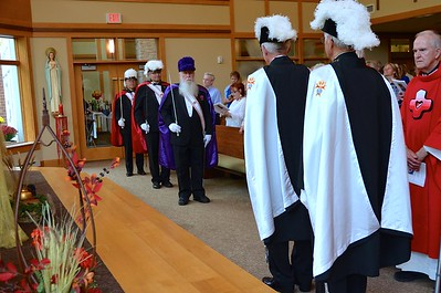 The Knights of Columbus prepare for the recessional