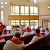 The chapel was filled for the anniversary Mass