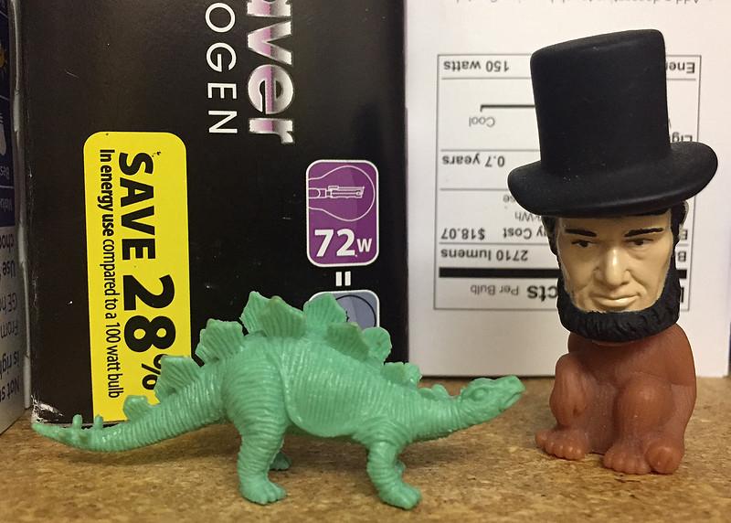 dinosaur and abe