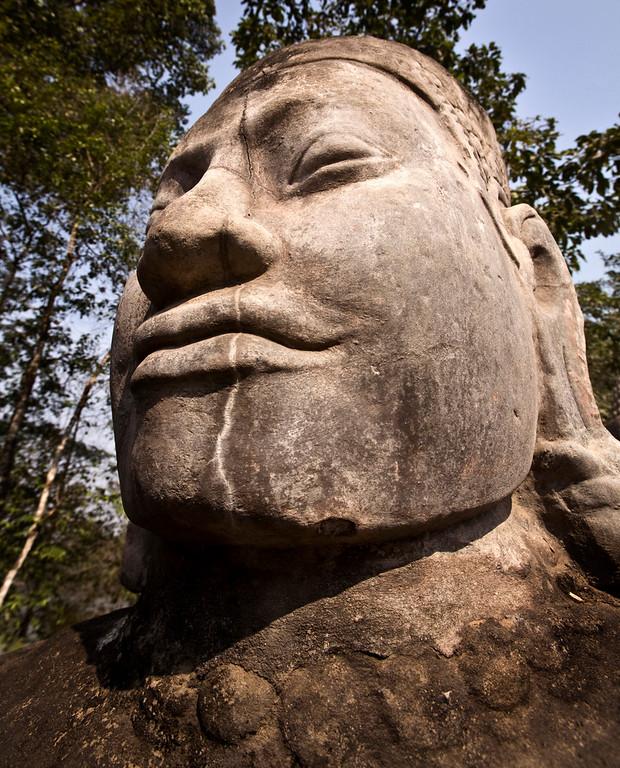 big head at Angkor Thom