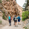 UNAVCO interns walk with graduate students from CU Boulder through a rocky pass while on a field trip with UNAVCO. (Photo/Christopher Chase Edmunds, UNAVCO)