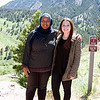 2017 RESESS interns Danya and Alexandra at the NCAR Mesa Lab facility in Boulder, Colorado.  (Photo/Aisha Morris, UNAVCO)
