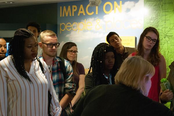 2017 RESESS, SOARS, and NEON interns tour the NCAR Mesa Lab facility.  (Photo/Aisha Morris, UNAVCO)