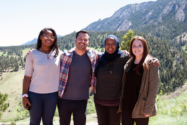 2017 returning RESESS interns at the NCAR Mesa Lab facility in Boulder, Colorado.  (Photo/Aisha Morris, UNAVCO)