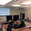 UNAVCO ECE Specialist Beth Bartel leads a discussion on GPS for the 2017 RESESS interns.  (Photo/Aisha Morris, UNAVCO)