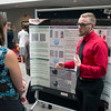 2017 RESESS intern Zachary Little discusses his summer work at the poster session.  Augusts 3, 2017.  Boulder, Colorado.  (Photo/Daniel Zietlow, UNAVCO)