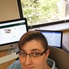 Intern Theron Sowers hard at work at the USGS Office in Golden, CO. (Photo credit: Theron Sowers)