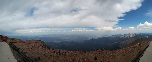 View from the top of Pike's Peak. (Photo credit: Theron Sowers)