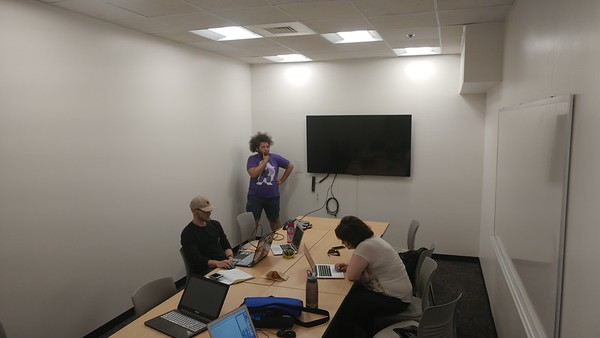 The Boulder four hard at work in the final week. (Photo credit: Theron Sowers)