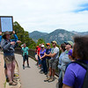 2017 UNAVCO interns hear from CU Boulder graduate students about the glacial history of Rocky Mountain National Park.  (Photo/Ellie Ellis, USIP Intern)