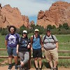 The four new interns enjoyed an adventure-packed day at the Garden of the Gods! <br /> <br /> Left to right: Steven Moran, Fatima Niazy, Zachary Little, Theron Sowers
