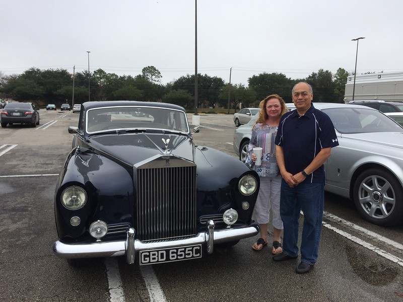 And a Happy Birthday to Sharon.  With David and their 1955 Silver Cloud I  Freestone & Webb