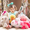 2017 April 4 Reagan and her Easter bunnies