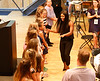 HOLLY PELCZYNSKI - BENNINGTON BANNER Three time Olympic gold medalist Gabby Douglas is greeted with fanfare by young aspiring gymnasts on Tuesday evening during the 2017 Regional All Stars gala held at Bennington College.