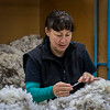Merit, Annie Carmichael - Wool Sorter - Checking for Quality