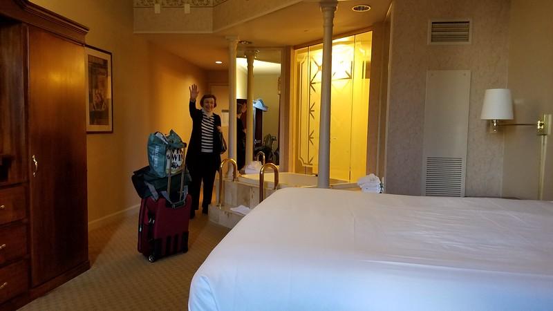 La checking into our $37.00 suite at Tunica Roadhouse casino