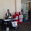 Zydeco street musican at Morning Call coffee and beignet cafe