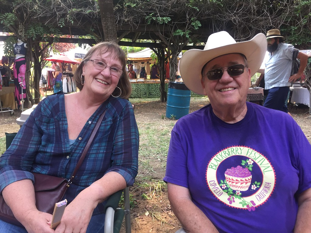 . Alfie and Leila Johns enjoying the live music at the Round Valley Blackberry Festival in Covelo Aug.19-20 Hillary Ojeda-The Willits News