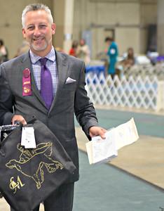 Judge Loran Morgan with his judge's gift.